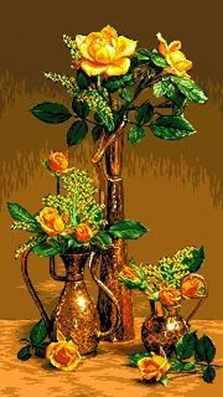 431 Розы в восточных сосудах