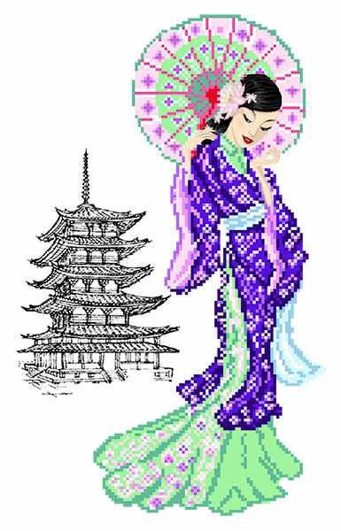 4525 Мисаки - рисунок на шелке (МП)