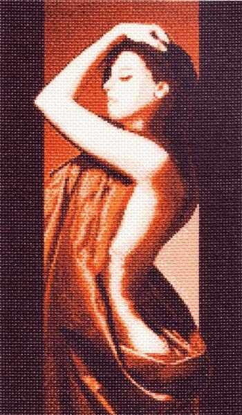 485 Натурщица - рисунок на канве (МП)