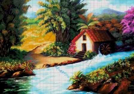 50-3196-НТ Тропический лес - набор для вышивания (А. Токарева)