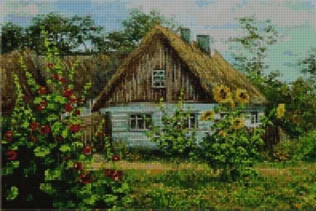 50014 Дом в деревне - мозаика Anya