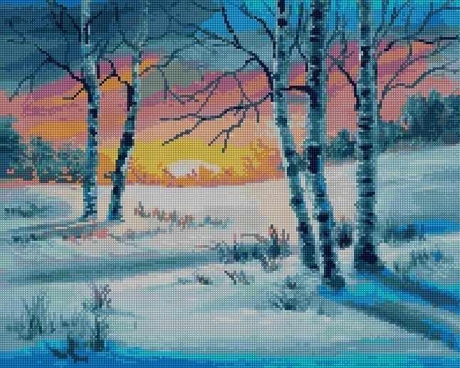 50015 Зимние березки - мозаика Anya