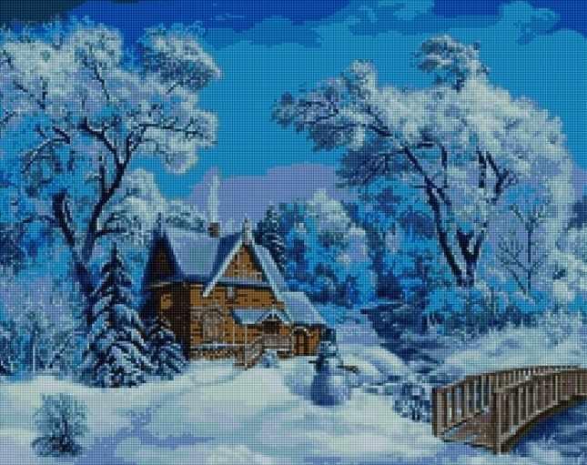 50016 Зимний домик - мозаика Anya