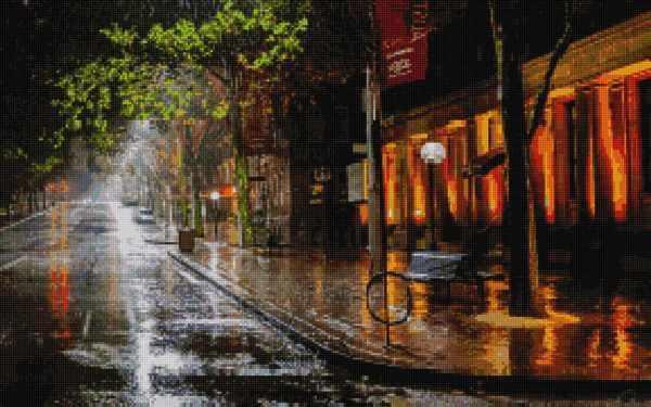 50031 Ночная улица -мозаика Anya
