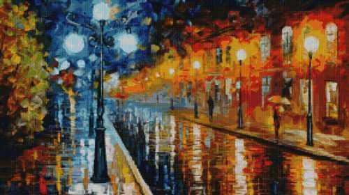 50039 Вечерняя улица -мозаика Anya