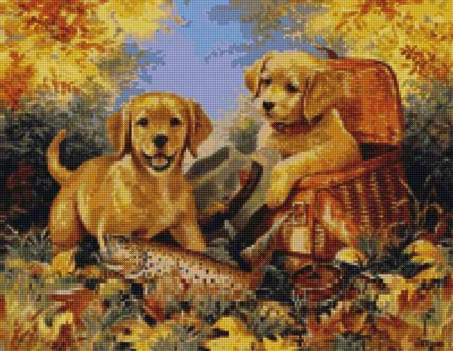 50048 Милые щенки - мозаика Anya