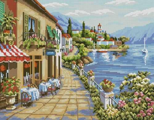 50086 Прибрежный городок - мозаика Anya