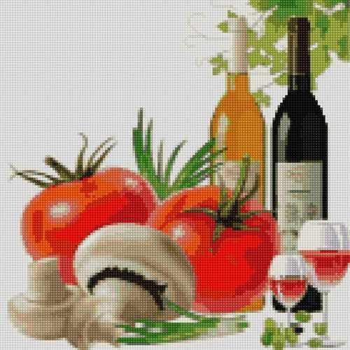 50095 Вино, томаты и грибы - мозаика Anya