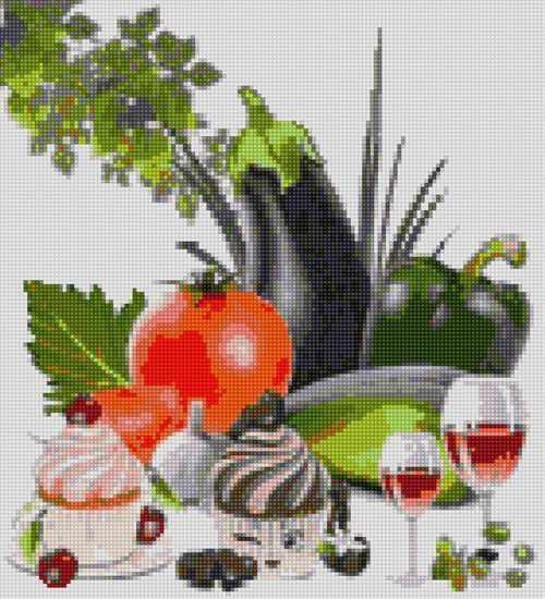 50096 Овощи и кексы - мозаика Anya