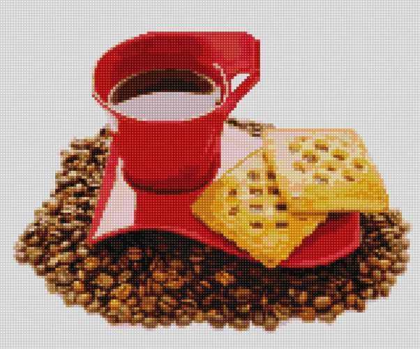 50098 Кофе и слойки - мозаика Anya