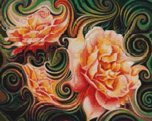 50136 Абстракция Розы - мозаика Anya