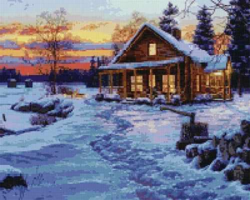 50156 Зимний домик - мозаика Anya