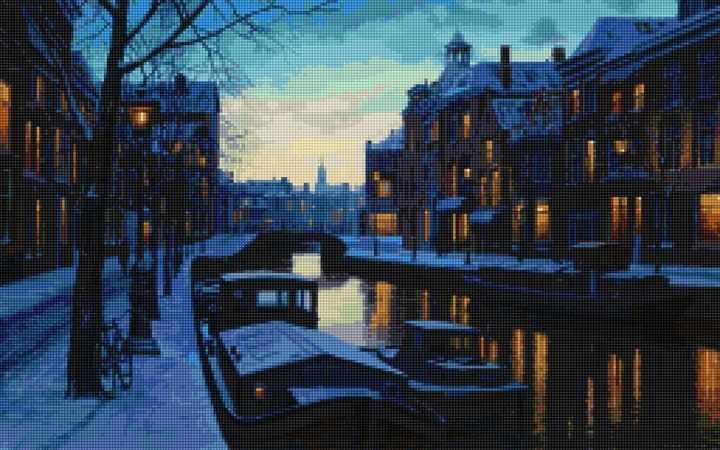 50159 Набережная зимой - мозаика Anya