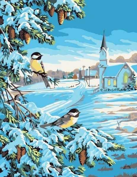 520-CG Снежная зима (Белоснежка)