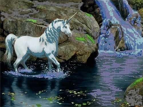 52009 Единорог и водопад
