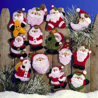 5351 Санты. Комплект рождественских игрушек,13 шт. (Design Works)