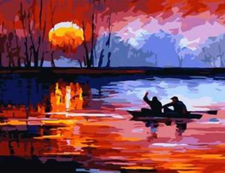 543-CG Рыбалка на закате (Белоснежка)