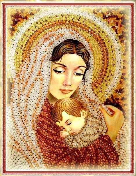"""5522 Дева Мария """"Образа в каменьях"""""""