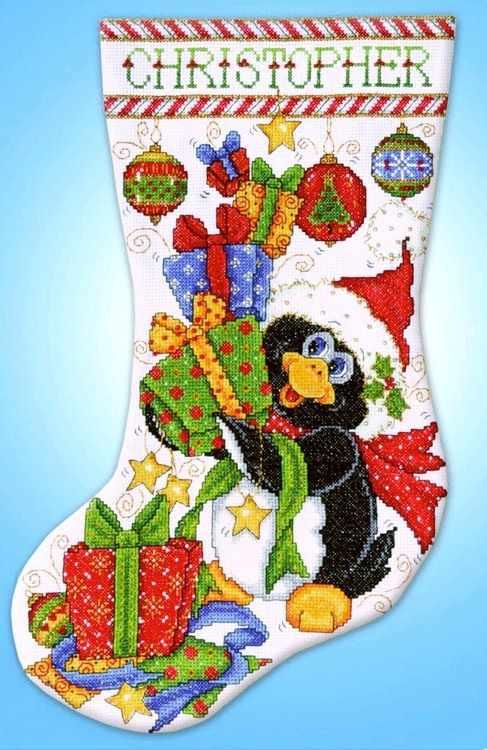 """5984 Сапожок """"Радостный пингвин"""" (Design Works)"""