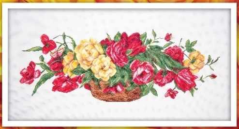 6009 Корзина с розами - набор для вышивания