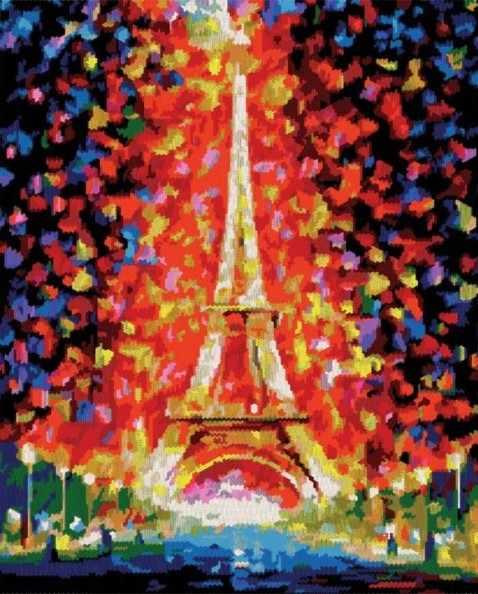 603-RS Париж - огни Эйфелевой башни (Белоснежка)