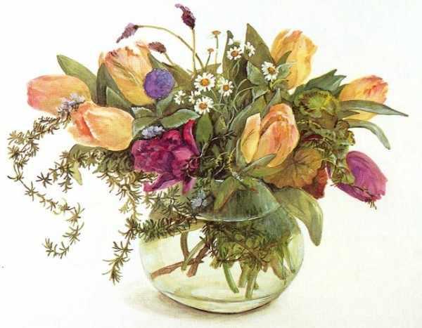 603 Травы и тюльпаны