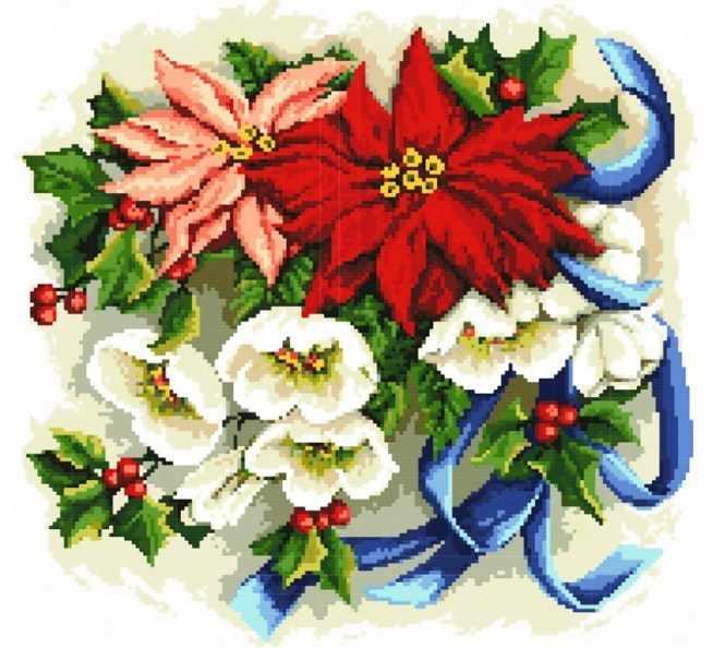 6040-14 Праздничный букет (Белоснежка)