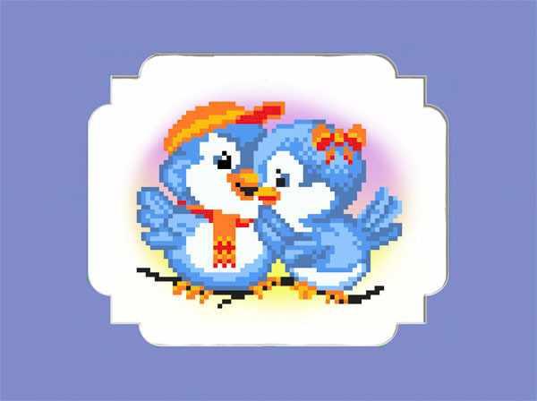 61/БП Птички - набор для вышивания (МП)