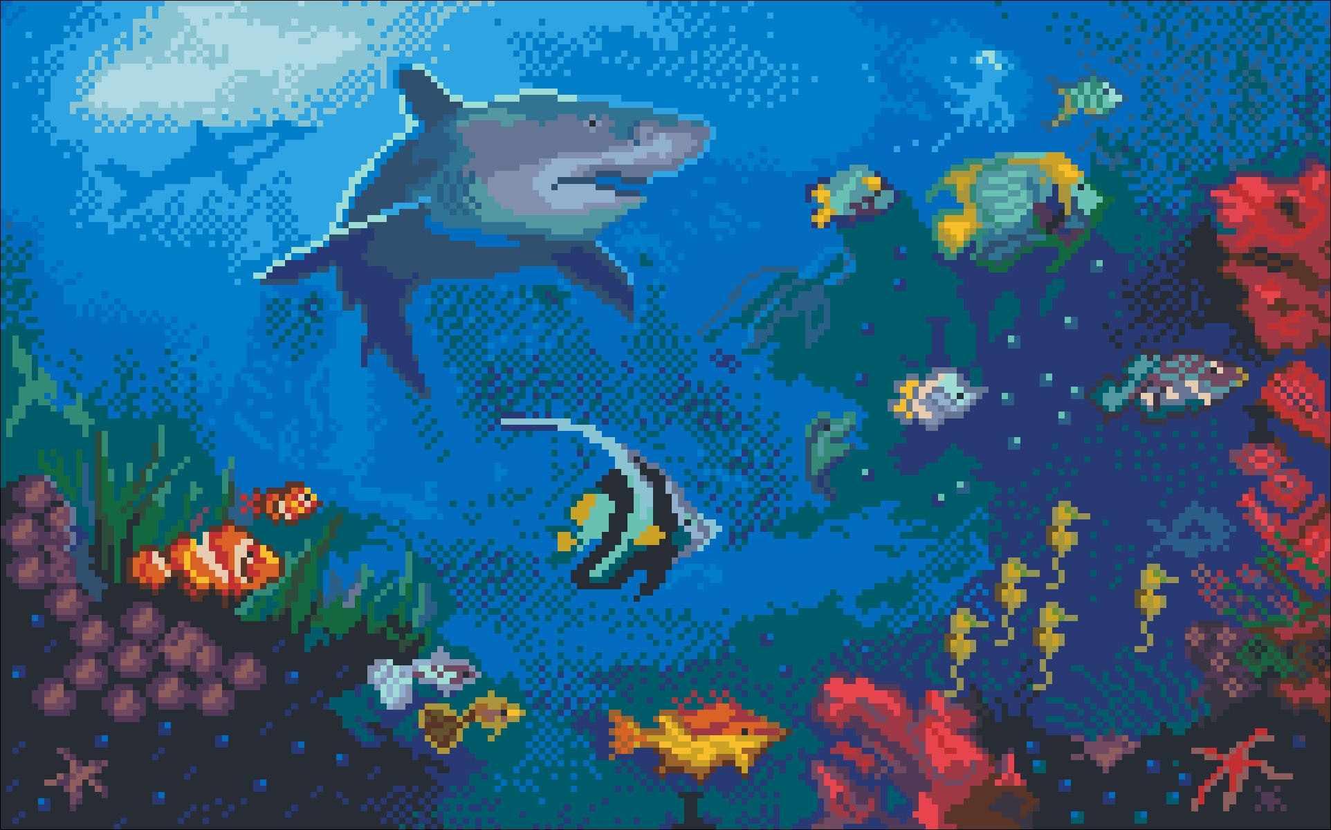6119/СК Акулий рай - набор для вышивания (МП)