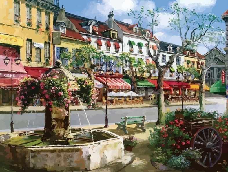 630-AB Европейский городок (Белоснежка)