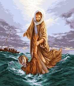 663 Иисус спасающий Петра