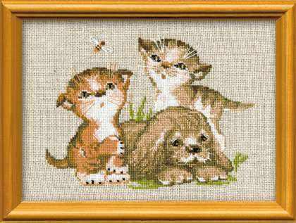 673 «Котята и щенок»