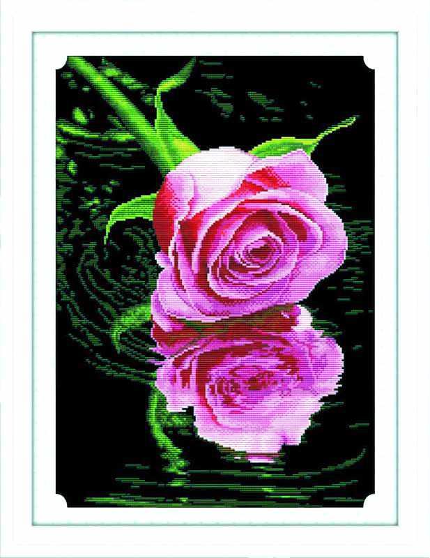 68046 Тени на воде (нежно-розовый) (Honey home)