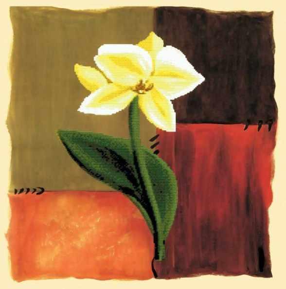 7031-3D Цветок надежды (Белоснежка)