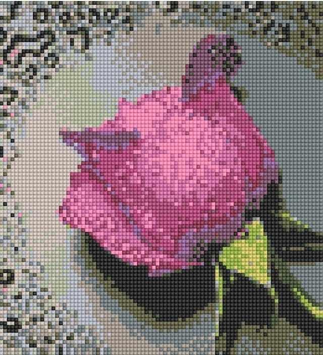71003,03 Бордовая роза - мозаика Anya