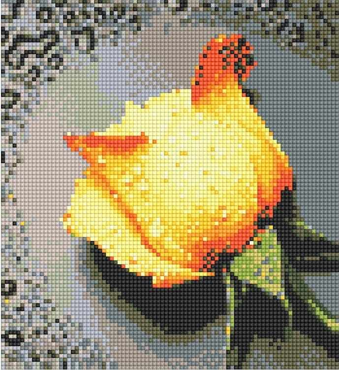 71003,05 Желтая роза - мозаика Anya