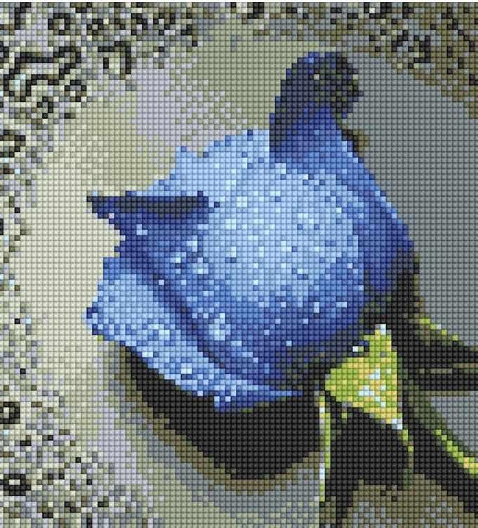 71003,08 Синяя роза - мозаика Anya
