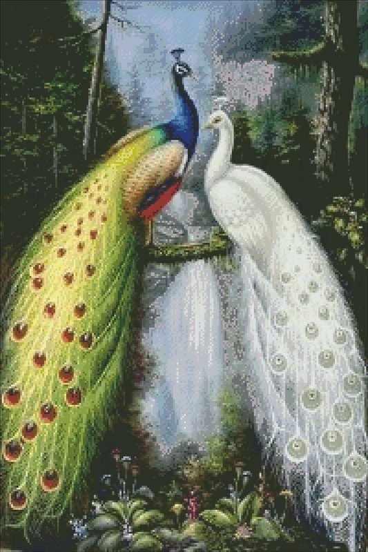 71010,01 Два павлина - мозаика Anya
