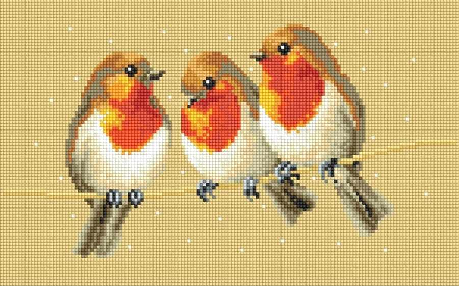 71014,01 Три птички - мозаика Anya