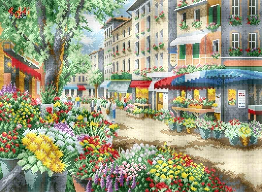 71032,03 Цветущая улочка - мозаика Anya