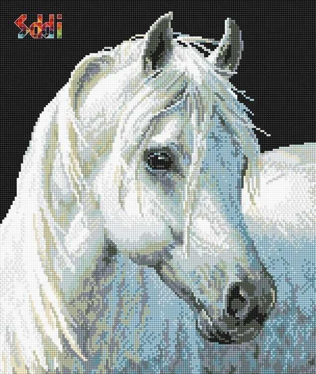 71040,06 Белый конь - мозаика Anya