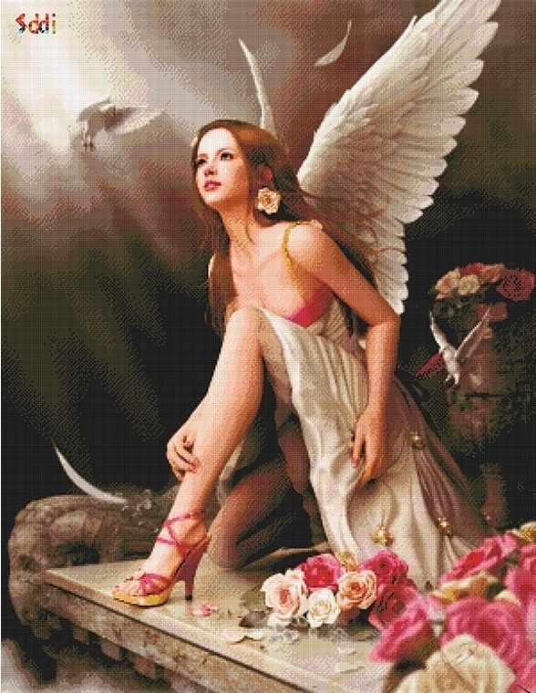 71041,75 Девушка-ангел - мозаика Anya