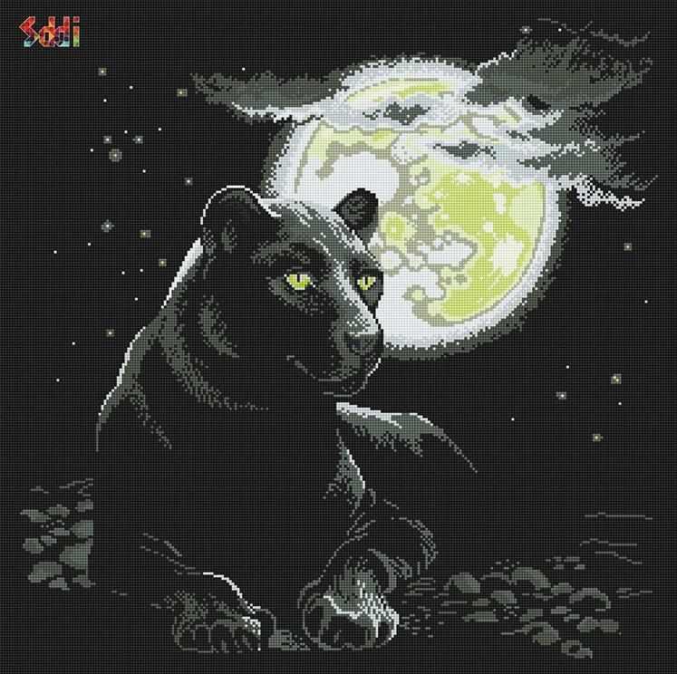 71048,51 Пантера в ночи - мозаика Anya
