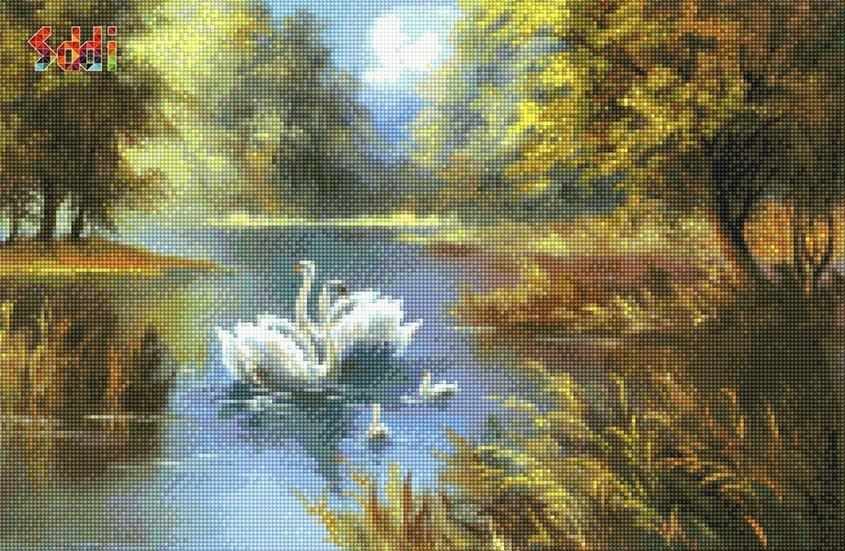 71066,14 Лебединое озеро - мозаика Anya