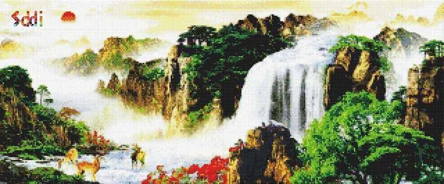 71067,20 Водопад - мозаика Anya