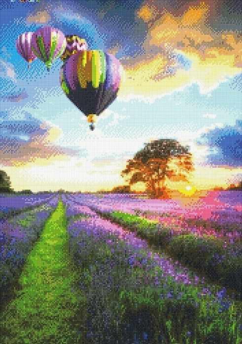 71068,14 Воздушные шары на закате - мозаика Anya