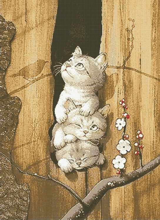 71069,11 Забавные котята - мозаика Anya