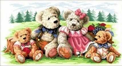 71074,03 Медвежья семья 3 - мозаика Anya