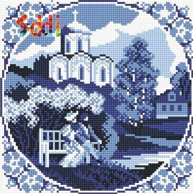 71080,01 Гжельский пейзаж - мозаика Anya