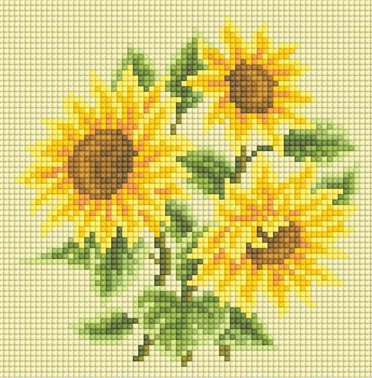 71085,08 Букет подсолнухов - мозаика Anya